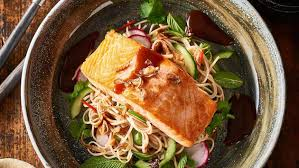 teriyaki salmon soba noodle salad u2013 recipe unilever food solutions
