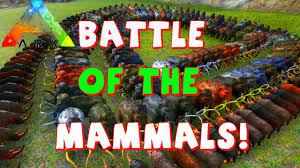 mammal battle ark 100 woolly rhino 150 mammoth rhino