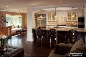 small open floor plan kitchen living room best small house plans