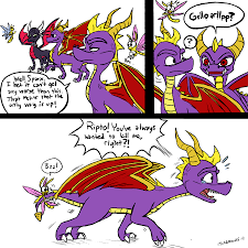 spyro and cynder by oogaboogaz on deviantart