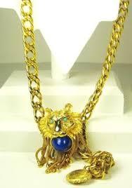 pauline rader necklace vintage pauline rader 1970s lion headnecklace emerald