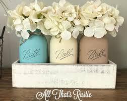 jar centerpiece decorated jars etsy