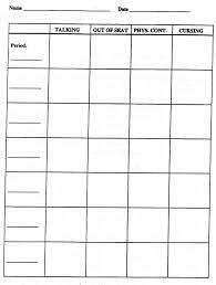 daily behavior report template daily behavior chart template fieldstation co