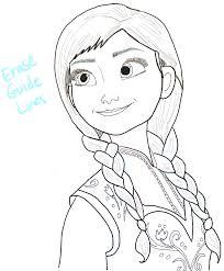 draw princess anna frozen step step tutorial