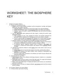 worksheet biosphere key atmosphere of earth earth