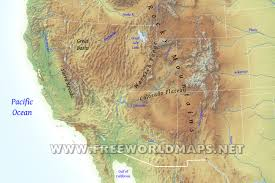 Western United States Map United States Physical Map Physical Features North America South