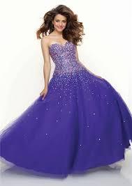 line princess sweetheart floor length royal blue beaded tulle prom