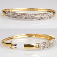 gold bangle bracelet with diamonds images 14 karat gold jewelry jpg