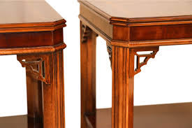 Lane End Tables Pair Lane Mahogany Chippendale Style Side End Tables