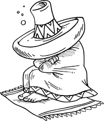 mexican sleeping under his sombrero free coloring page history