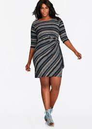 buy striped ribbed knit sweater dress multi work dresses