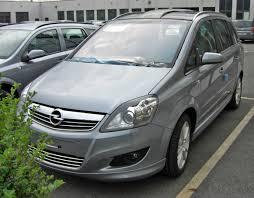 opel minivan file opel zafira b facelift sportpaket front jpg wikimedia commons