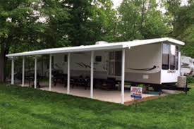 Slide Out Awnings For Travel Trailers Silver Top Manufacturing Camping