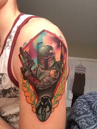 neo traditional boba fett by ryan jones at mom u0027s tattoos in