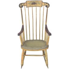 Cane Rocking Chairs For Sale 19th Century Fancy Original Painted Rocking Chair From New England