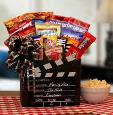 vegetarian gift basket family flix gift box with a redbox gift card