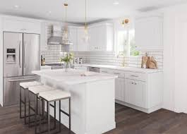 shaker style kitchen cabinets white shaker kitchen cabinets the rta store