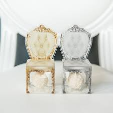 favor boxes transparent chair favor boxes the knot shop