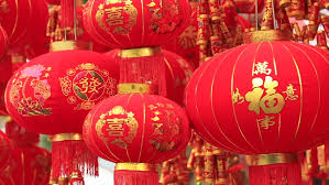 luck lanterns lantern and firecrackers for celebrating the