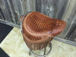 Alligator Upholstery American Hornback Alligator With Distressed Leather Customs By Vos