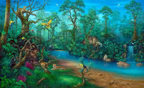 rainforest painting wall art by artist david miller rainforest fantasy by artist david miller