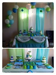 blue baby shower baby shower decorations blue and green 8758