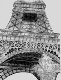 eiffel tower sketch by nudeli on deviantart