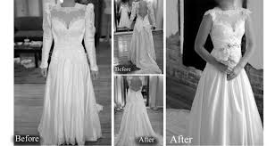 bride totally transforms her mother u0027s u002780s wedding gown