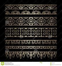 set of gold border ornaments stock vector image 66305543