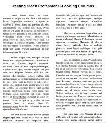 Metus Vitae Pharetra Auctor by Create Sleek Professional Looking Newsletter Type Columns In