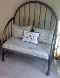 how to make a bench and planter from old bed frames bed frames