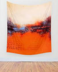 Orange Bedroom Walls Autumn Colors Wall Tapestry U2013 Textured Abstract Landscape U2013 Orange