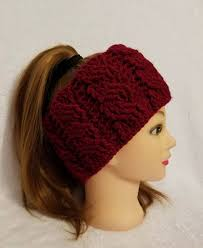 burgundy headband sale crochet cable headband in wine reversible cable headband