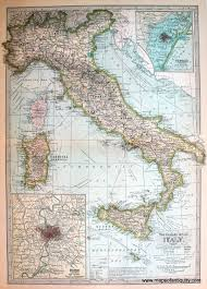 Rome Italy Map The Century Atlas Italy Map Antique Maps And Charts U2013 Original
