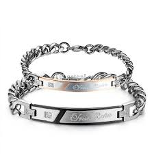 engraved bracelets compare prices on engraved couples bracelets online shopping buy