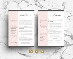 2 Page Resume Samples by Professional Resume Template Pink Gray Simple Modern Layout
