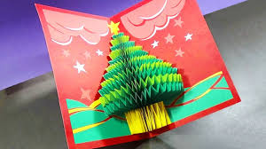 how to make a 3d christmas pop up card youtube