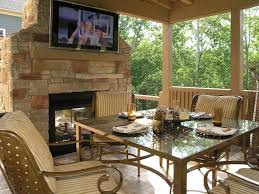 exterior covered outdoor patio seck area combine exposed stone