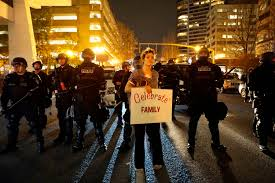 civil disobedience a week of protests erupt from trump u0027s