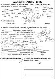 44 best adjectives worksheets images on pinterest teaching ideas