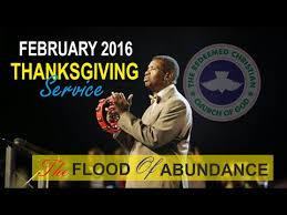 pastor ea adeboye sermon rccg april 2017 thanksgiving