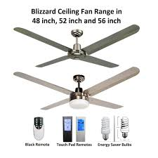 marine grade stainless steel outdoor ceiling fans blizzard 4 blade 316 marine grade stainless steel ceiling fan