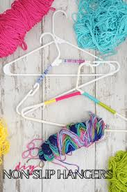 diy organization ideas diy non slip hangers for your closet