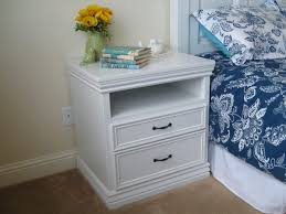 tall black bedside table nightstand diy nightstand trash can repurposed side table tall