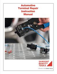 automotve terminal repair instruction manual