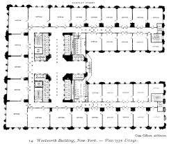 Parts Of A Cathedral Floor Plan by Ad Classics Woolworth Building Cass Gilbert Archdaily