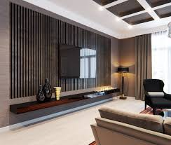 modern living tv living room wall design simple tiles and panel trends cool