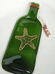melted wine bottle platter starfish melted wine bottle tray starfish spoon rest