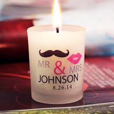 personalized candle wedding favors mr and mrs personalized frosted glass candle holder no set up