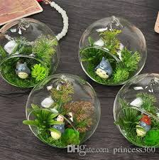6 8 10 cm creative hanging glass vase succulent air plant display